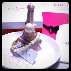 Kate Spade ♠️ Double Pearl Ring Size 5 NWT